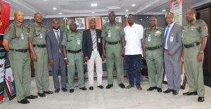 1Chief of Army Staff Lt General Buratai and ES Centre for Crisis Communication Air Comdr Anas Yusuf centre with Military officers and management of CCC at Army Hq Abuja
