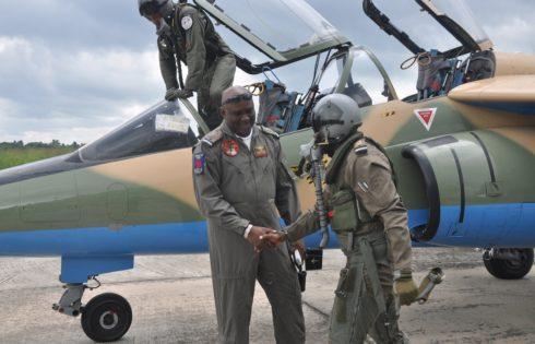NAF Alpha Jet pilots on Niger Delta