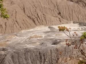 A close shot of the Awoakpali mining cite