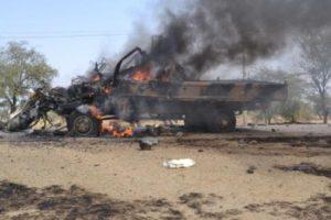 A+terrorists+vehicle+set+ablaze+by+troops
