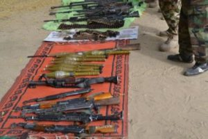 Cache+of+arms+recovered+from+the+terrorists