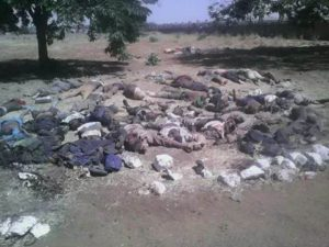 Corpses+of+terrorists+after+aerial+attacks+and+ground+troops+operation+in+their+attempt+to+invade+a+villages+in+Nigeria
