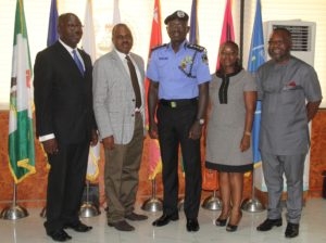 IGP in a group photograph with delegates of NHRC