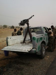 Terrorists+vehicle+mounted+with+Anti-Aircraft+Gun+recovered