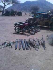 Captured+motorcycles+and+weapons+from+Boko+Haram+Terrorists+during+the+recapture+of+Gwoza+towns+and+environs