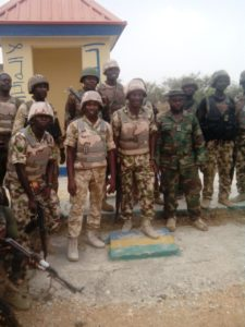 Troops+in+a+group+photograph+in+Police+Training+College+Gwoza+after+the+capture+of+the+town+from+terrorists