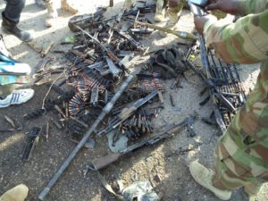 Cache+of+arms+and+ammunitions+recovered+from+the+terrorists+during+the+attack+on+Dikwa+town+on+Saturday