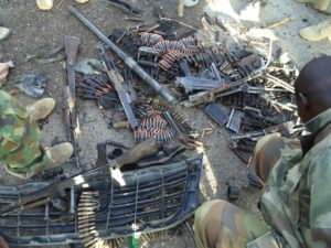 Cache+of+arms+and+ammunitions+recovered+from+the+terrorists+during+the+attack+on+Dikwa+town+on+Saturday1