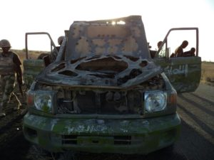 One+of+the+vehicle+used+by+the+terrorists+recovered+by+troops
