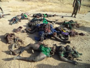 Terrorist Remains after encounter with Nigerian troops