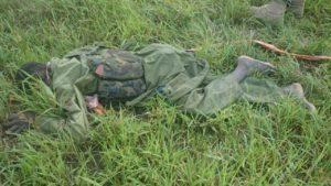killed terrorist on Dikwa Maiduguri Road