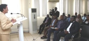 DEHAB GEHRAB OF FBI ADDRESSING EFCC STAFF DURING THE      CEREMONY WHICH TOOK PLACE IN LAGOS .020