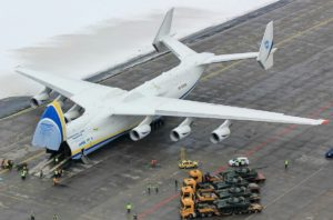 Loading of T72 tanks on Antonov in Czech Republic destined   for Nigeria