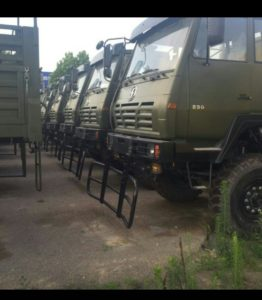 Troop transporters brought in at crtical time for Nigerian   troops