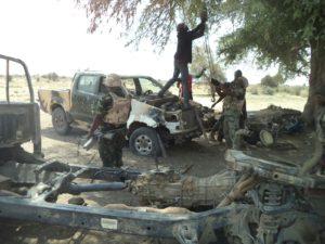 Nigerian Troops in terrorist Mechanical workshop