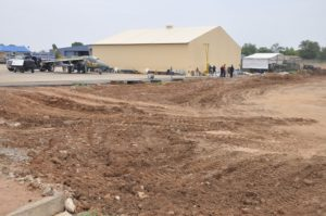 1. Ongoing expansion of military apron at Yola Airport