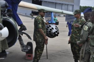 The+Chief+of+the+Air+Staff,+Air++Mshl+Sadique+Abubakar+inspecting+the+newly+weaponized+NAF+alpha+jet+after++test+flown