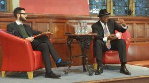 Goodluck Jonathan in Oxford Union