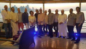 IPRA Council Members and some GWA Awardees on Tour of Coastal Marine in Doha,