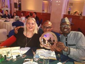 Yomi Badejo president African Public Relations Association and Dr Zehra Gungor, Phd congratulate, PRNigeria Founder at GWA IPRA