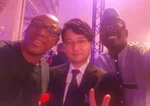 Yomi Badejo and Yosuke Sakamoto of Dentsu Japan at IPRA GWA