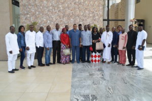 Chief of Air Staff in a group photograph with Editors of Online Media in Abuja