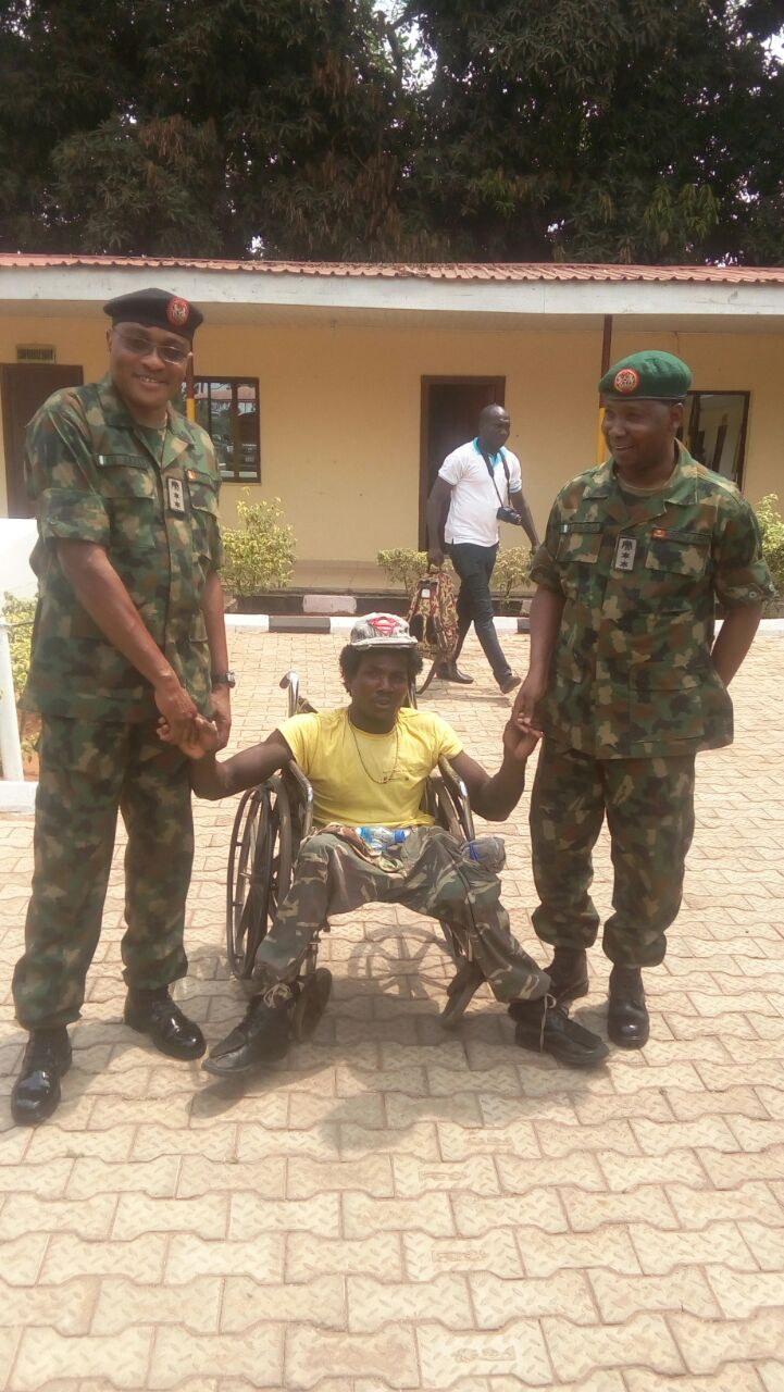 Army officers sympathizers with Physically Challenged Person