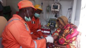 NEMA treat victim of Suicide Bomber
