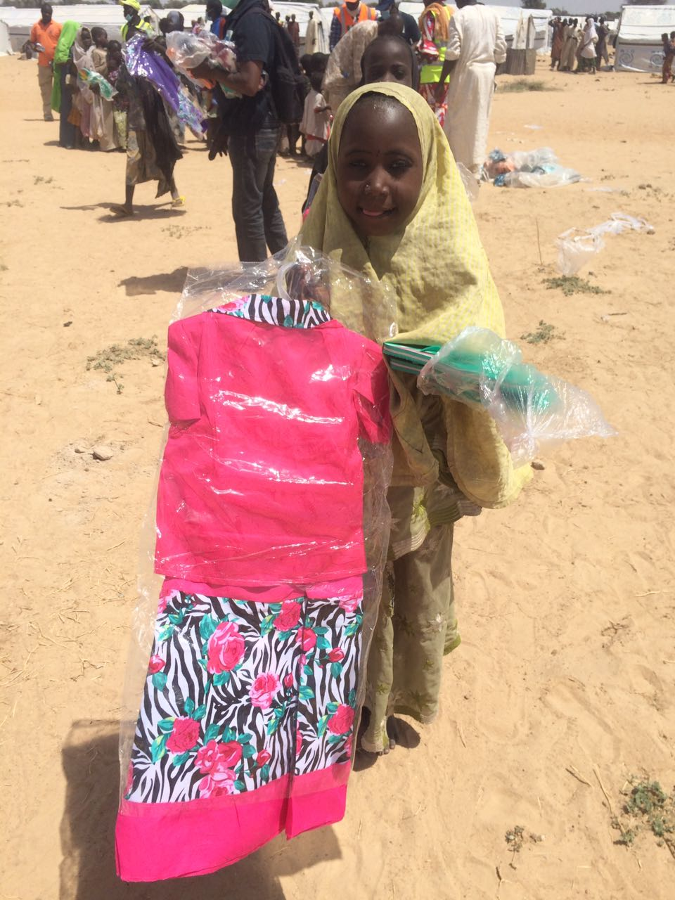 IDP collects gift