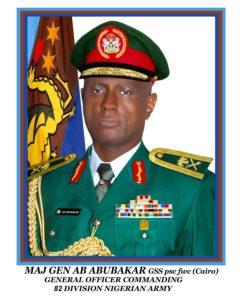 Major General Adamu Abubakar GOC 82 Div