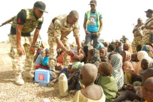 Troops in rescue operation