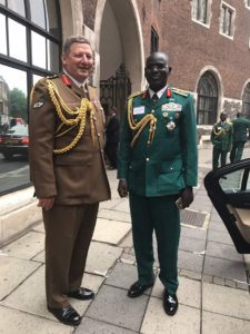 Commander of Joint Forces Command, General Sir Chris Deverell with Lt Gen TY Buratai
