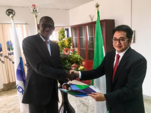 NEXIM MD Abba Bello and Indonesia Eximbank MD Dwi Wahyudi