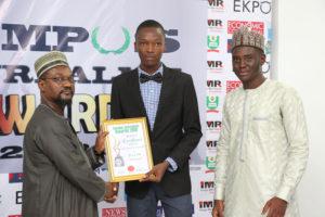 Ifedayo Ogunyemi (MAPOLY) Receives Campus Journalism AWard CJA 2018 for Pen Club