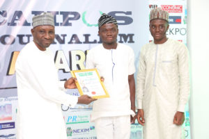 Ibrahim Adeyemi Receives Campus Journalism AWard CJA 2018 for Essayist