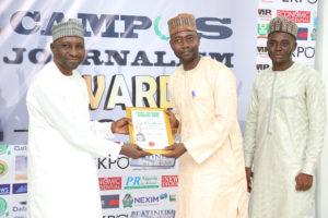 Muhammad Sabo Usman Receives Campus Journalism AWard CJA 2018 for Videographer