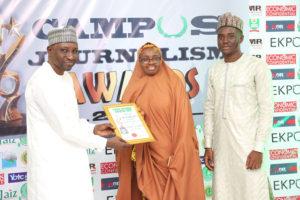 Jameela Yusuf Abdussalam Receives Campus Journalism AWard CJA 2018 for Gender Equality