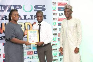 Alao Abiodun Joshua Receives Campus Journalism AWard CJA 2018 for News Reporter