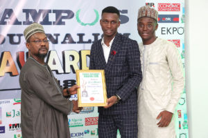 Ekere Goodluck Receives Campus Journalism AWard CJA 2018 for Author