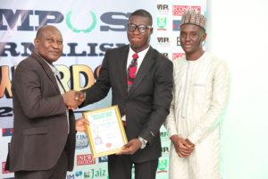 Olufemi Alfred/Kilonshele News Receives Campus Journalism Award CJA 2018 for Editor