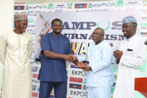 Dapo Olorunyomi Publisher/CEO Premium Times Receives Honorary Patron of Campus Journalism Award CJA 2018