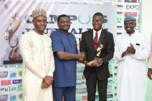 Alfred Olufemi receives Campus Journalist of the Year of CJA