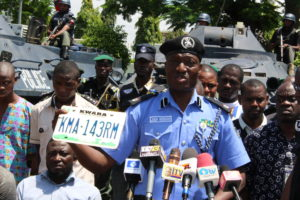 Moshood Jimoh parades Offa Armed Robbery suspects