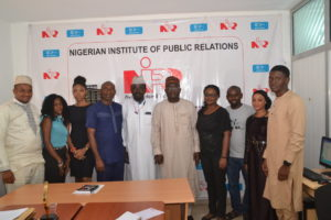 A Team from Image Merchants Promotion Limited Publishers of PRNigeria with Management of NIPR at the NIPR Hq Abuja