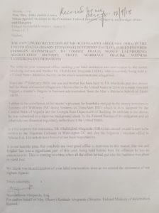 Abegunde Family Letter to Abike Dabiri