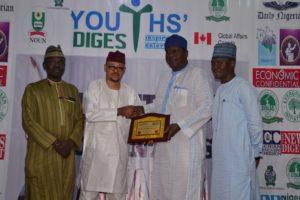 CCT Chairman, Justice Danladi Umar Presents Youth Digest Award to Otunba Olusegun Runsewe of NTDC