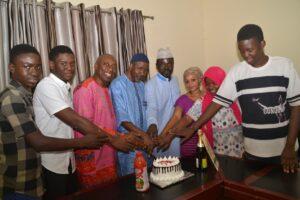 Mallam Cutting his birthday Cake