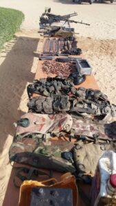 MNJTF Recovers weapons and ammuniations from Terrorists