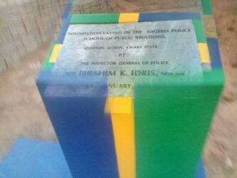 Police PR School Foundation Stone