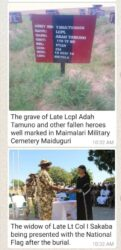 Widow at Military Cemetery in Maimalari Borno State